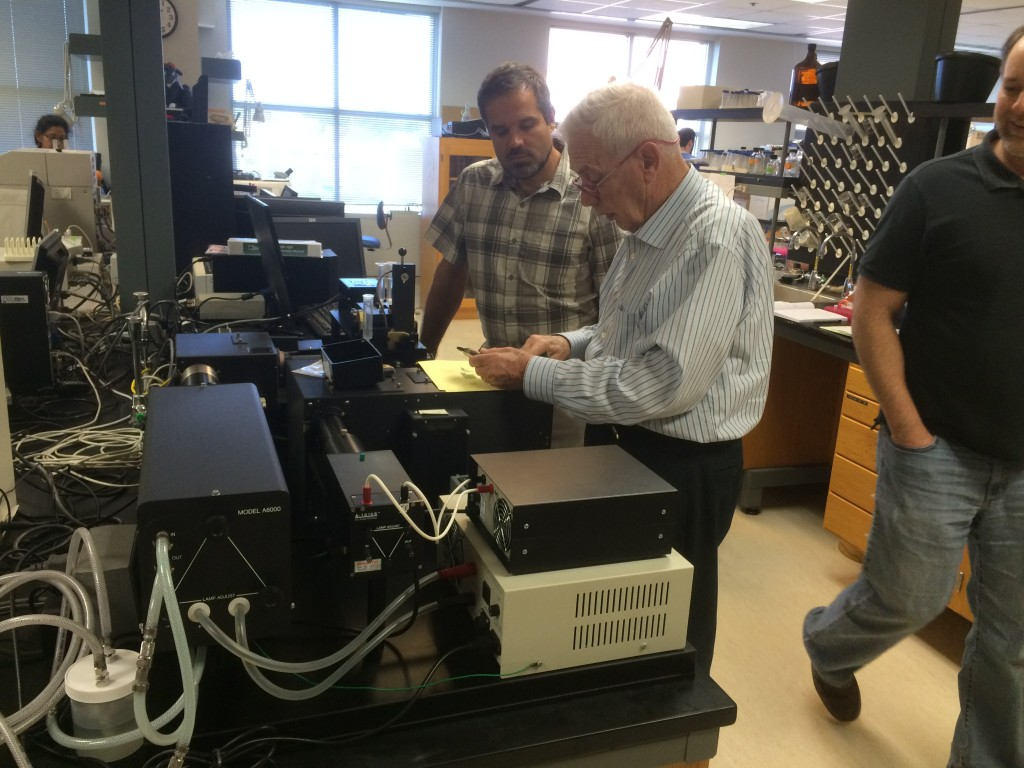 This newly upgraded RSM 1000 Stopped-Flow system is installed in Dr. Zach Wood's laboratory at UGA.